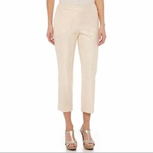 Champagne gold capri dress pants